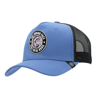 Trucker Cap Born To Be Free Blue The Indian Face For Men And Women
