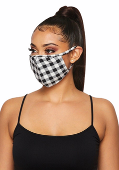 Checkered Adult Face Mask