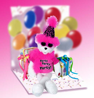 """Get The Party Started Bear 15"""""""