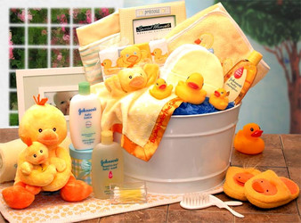 Bath Time Baby New Baby Basket-yellow (lg)