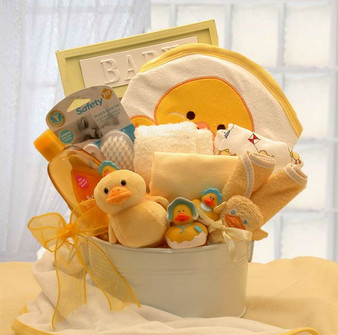 Bath Time Baby New Baby Basket-yellow (med)