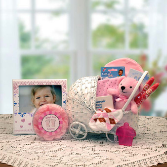Bundle Of Joy New Baby Basket- Pink (med)