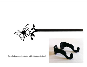Butterfly Curtain Rod - Sm   (hardware Is Included)   (hardware Is Included)