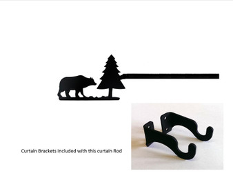 Bear/pine Curtain Rod - Sm   (hardware Is Included)   (hardware Is Included)