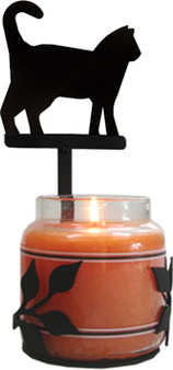 Cat - Large Jar Sconce
