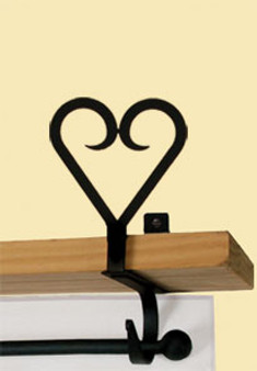 Heart - Curtain Shelf Brackets