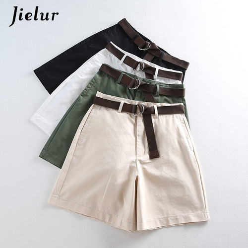 2020 Summer Leisure Thin Shorts for Women Loose Large Size Wide Leg Shorts with High Waist Female A-line Short Feminino 4 Colors