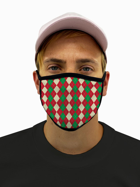 Holiday Wrap Mask with Filter Pocket
