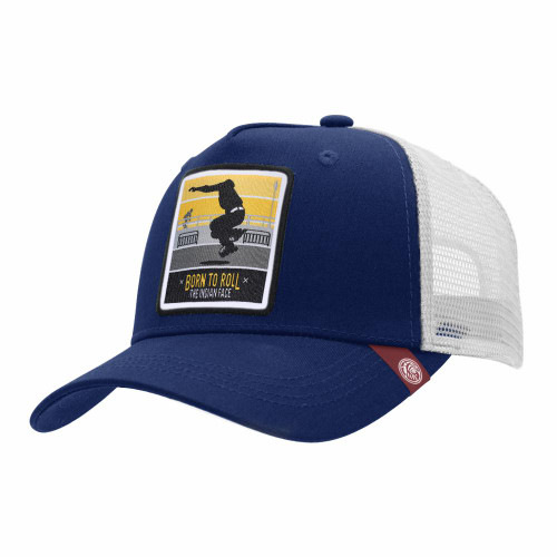 Trucker Cap Born To Roll Blue The Indian Face For Men And Women