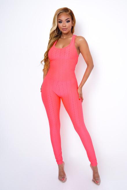 Criss-cross-backless-halter-sports-jumpsuit - 45547790