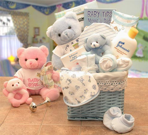 Sweet Baby Of Mine New Baby Basket -blue (med)