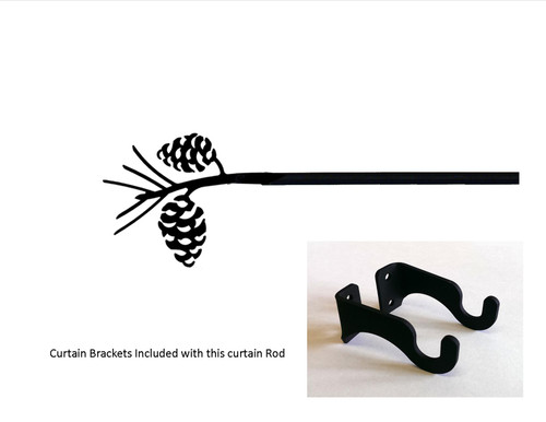 Pinecone Curtain Rod - Sm   (hardware Is Included)   (hardware Is Included)