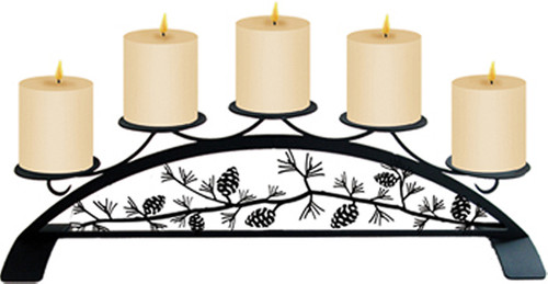 Pinecone - Table Top Pillar Candle Holder