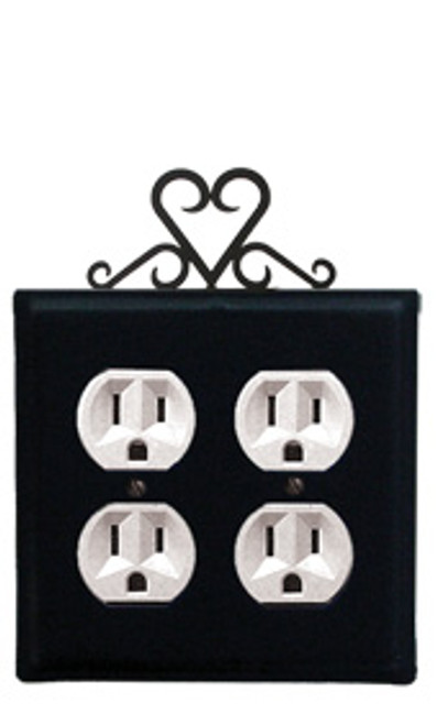 Heart - Double Outlet Cover