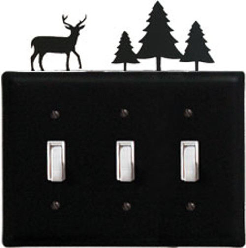 Deer & Trees Triple Switch Cover