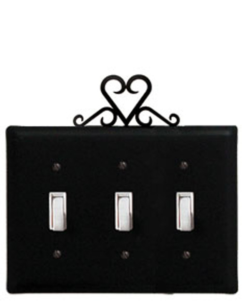 Heart - Triple Switch Cover