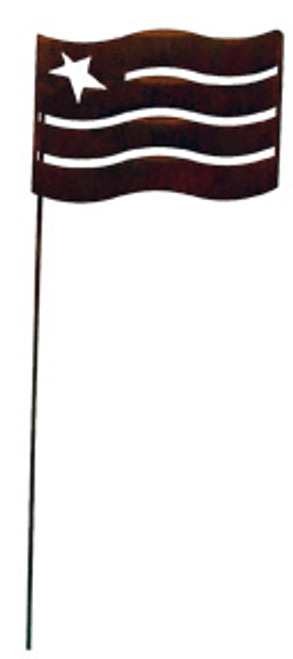 Flag - Rusted Garden Stake Small