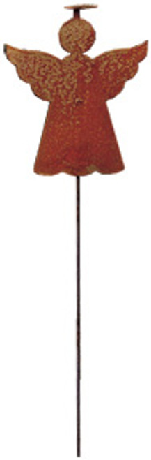 Angel With Halo - Rusted Garden Stake