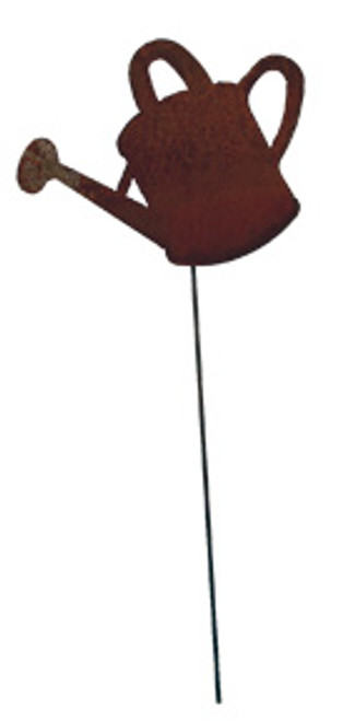 Watering Can - Rusted Garden Stake