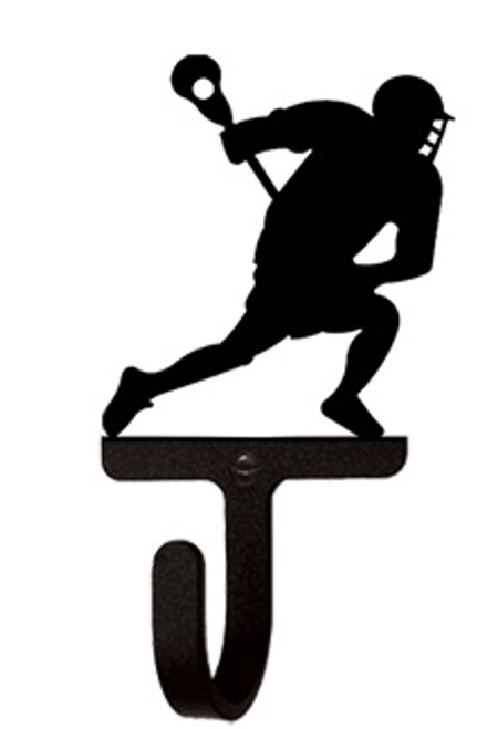 Lacrosse Player - Wall Hook Small