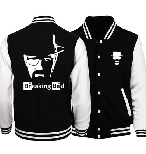 Breaking Bad Heisenberg Baseball Uniform Men  Spring Crossfit Jacket Graphics Design Jackets Mens Coat Hip Hop Streetwear