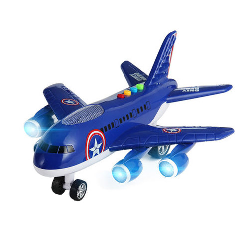 Model Children's Toy Airplane Music Boy Toy Aircraft,dark Blue