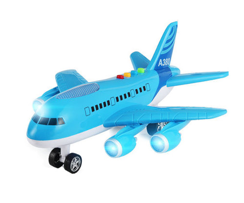 Model Oversized Children's Toy Airplane Music Boy Toy Aircraft,blue
