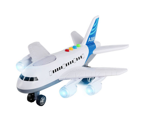 Model Oversized Children's Toy Airplane Music Boy Toy Aircraft,white