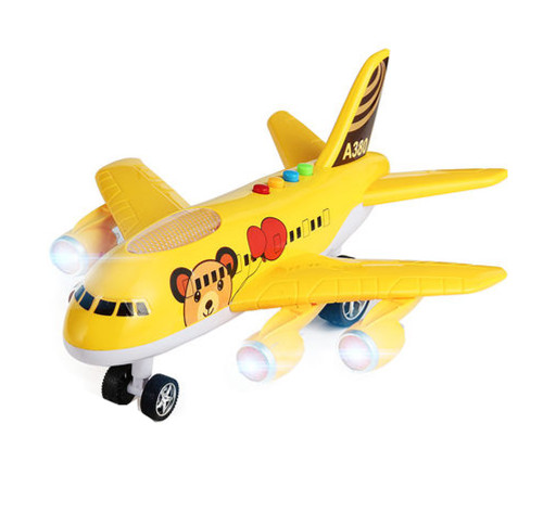 Model Oversized Children's Toy Airplane Music Boy Toy Aircraft,yellow