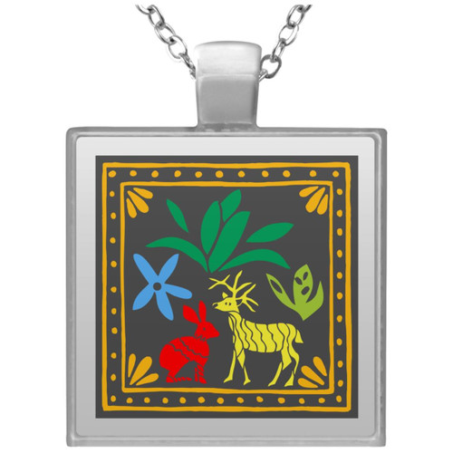 embroidery-5454521 UN4684 Square Necklace