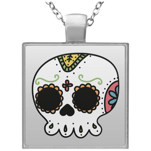 day-of-the-dead-3368234 UN4684 Square Necklace