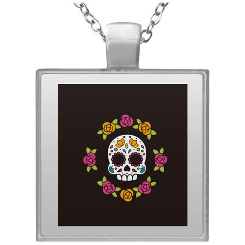 skull-5976348 UN4684 Square Necklace