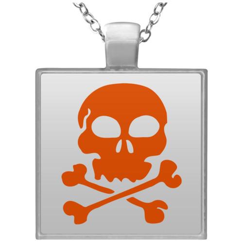 skull-304433 UN4684 Square Necklace