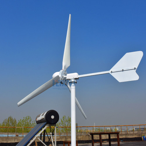 3KW/3000W 120V 220V 3 blades Horizontal Wind Turbine Generator Residential home Use+ Wind Charger Controller