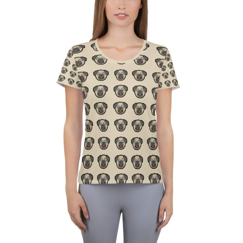 All-Over Print Women's Athletic T-shirt dog