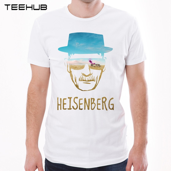New Arrivals Breaking Bad Men T-Shirt Fashion Heisenberg Printed t Shirt Short Sleeve O-Neck Tops Funny Animal Tee
