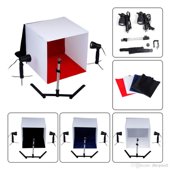 Photo Studio 24 inch Photography Lighting Tent Kit Backdrop Cube In A Box Mini Stand Best Seller