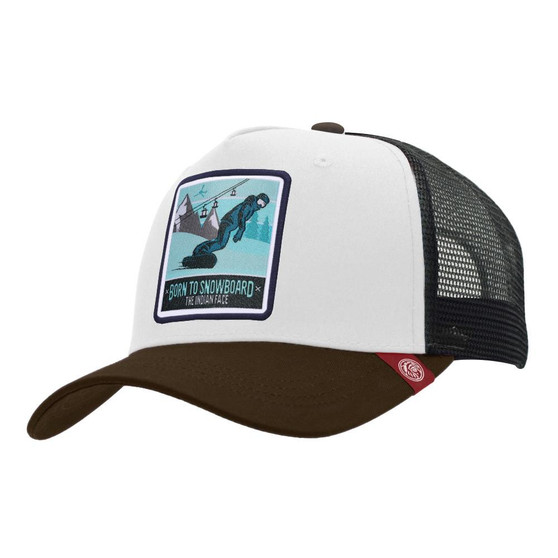 Trucker Cap Born To Snowboard White The Indian Face For Men And Women - 45516934