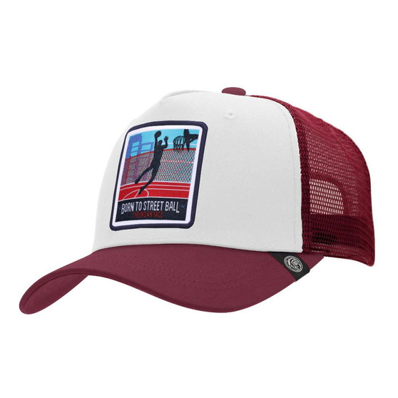 Trucker Cap Born To Street Ball White The Indian Face For Men And Women