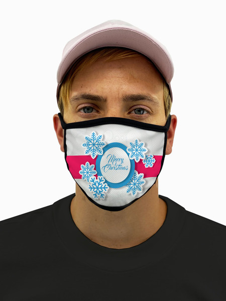 Christmas Present Mask with Filter Pocket