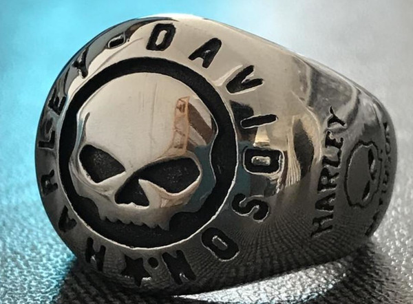 Size 7-13 Cool Design Polish Biker Ring 316L Stainless Steel Fashion jewelry Motorcycles Biker Skull Ring