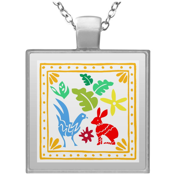 embroidery-5454523 UN4684 Square Necklace
