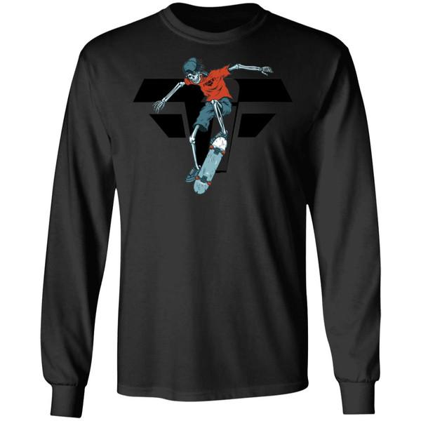 vintage-colorful-skeleton-skater-vector-id966313964FBFB G240 LS Ultra Cotton T-Shirt