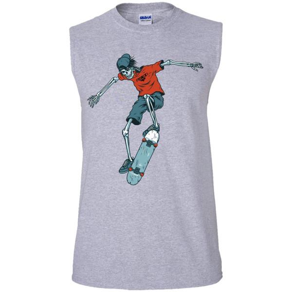 vintage-colorful-skeleton-skater-vector-id9663139647676 G270 Men's Ultra Cotton Sleeveless T-Shirt