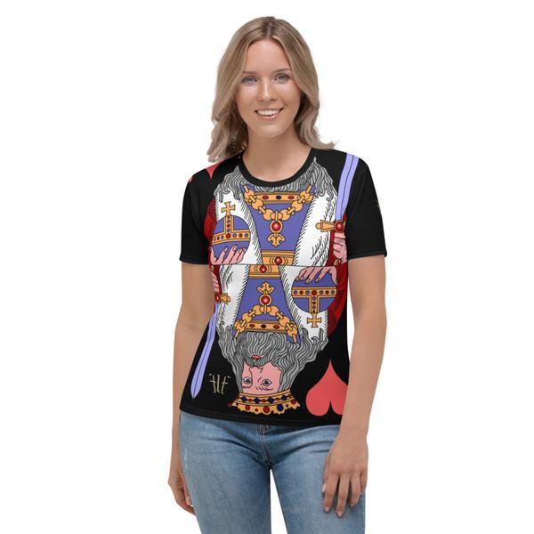 Women's T-shirt Queen Hearts