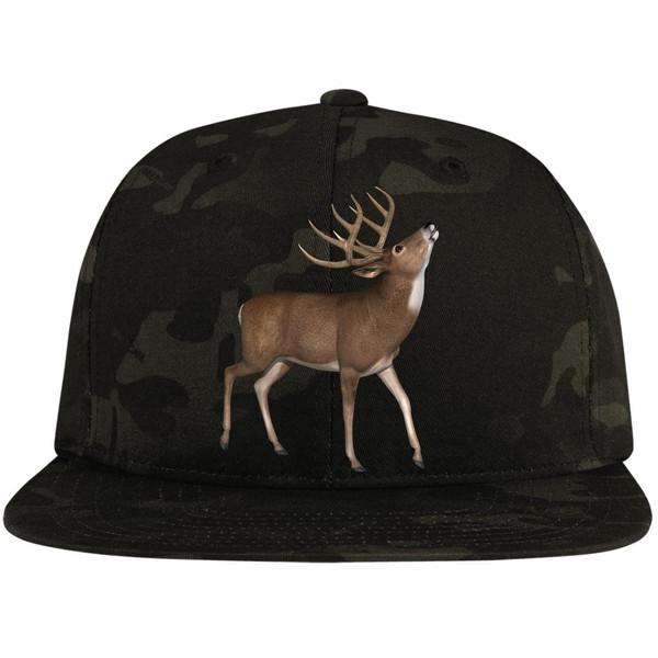 buck-4653644 STC19 Flat Bill High-Profile Snapback Hat