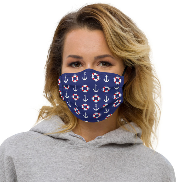 Premium face mask Nautical