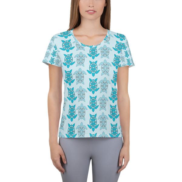 All-Over Print Women's Athletic T-shirt turtt