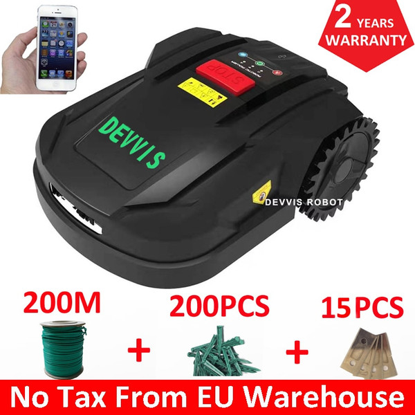 2021 7th Generation DEVVIS Robot Lawn Mower H750T For Small Lawn Updated With 4.4Ah Lithium Battery,Wifi,Schedule ,Gyroscope