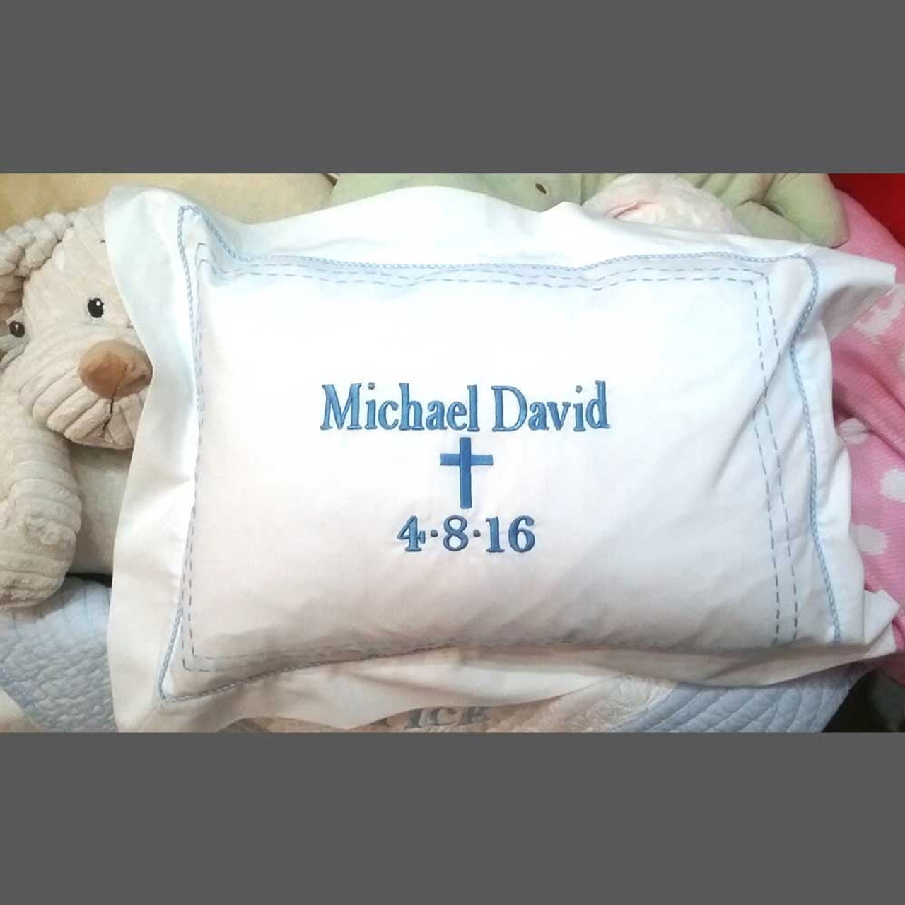 Personalized Tailored Boudoir Pillow The Initial Design Monogram